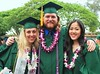 School of Ocean and Earth Science and Technology student celebrate their degrees at the UH Manoa spring 2015 commencement ceremony on may 14, 2016.