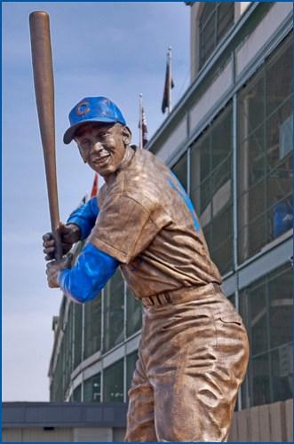 "Ernie Banks, ""Mr. Cub"" (1931-2015) -- Wrigley Field Chicago (IL) April 2012"