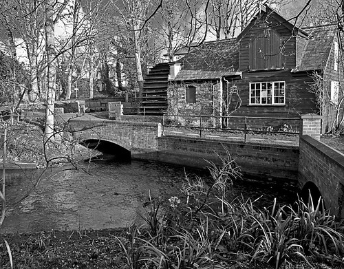 The Mill on the Rye - created using the 'Adjustment' process for converting to black and white.