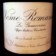Leroy Vosne-Romanee Les Genaivrieres 1999