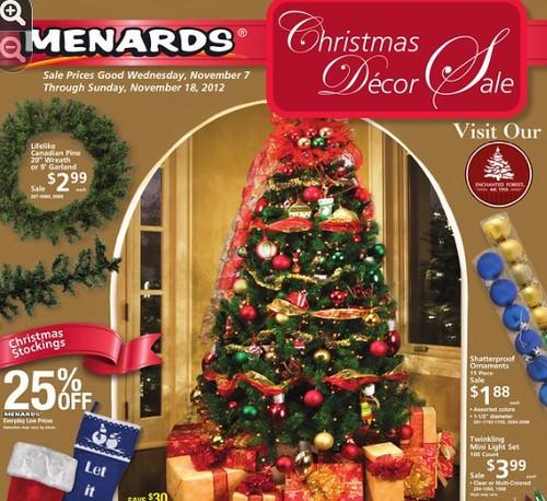 Menards Christmas Decor Sale 1172012 11182012 The