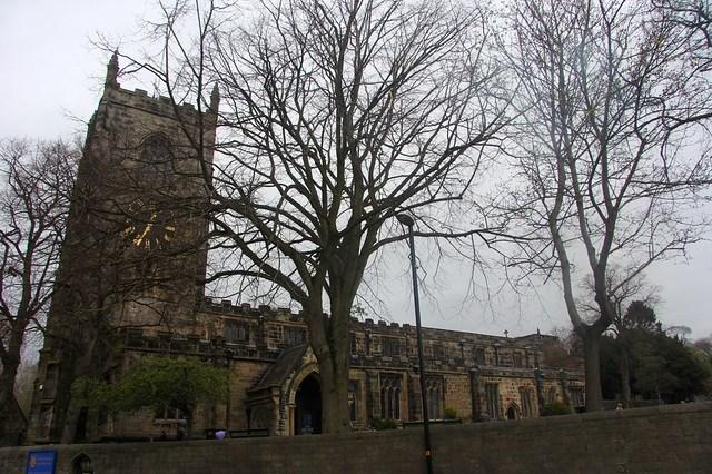 The church beside Skipton Castle