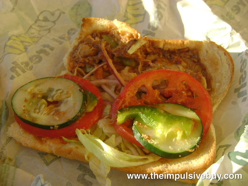 Subway Smokehouse BBQ Chicken Portion