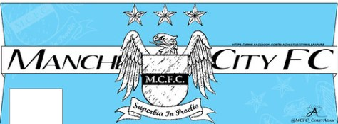 MCFC Crest Timeline Cover Photo - BLUE.