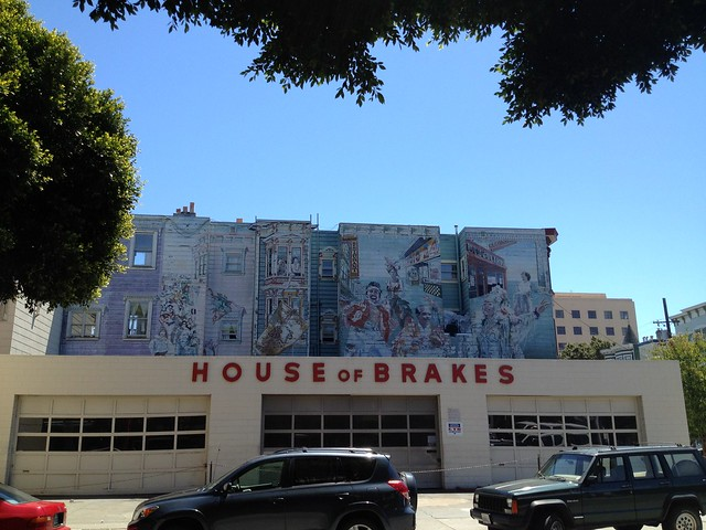 Mural above House of Brakes, 24th Street