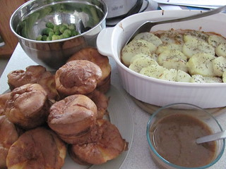 Cumberland Pie and Yorkshire Pudding