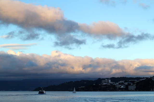 Monday: dusk along the waterfront