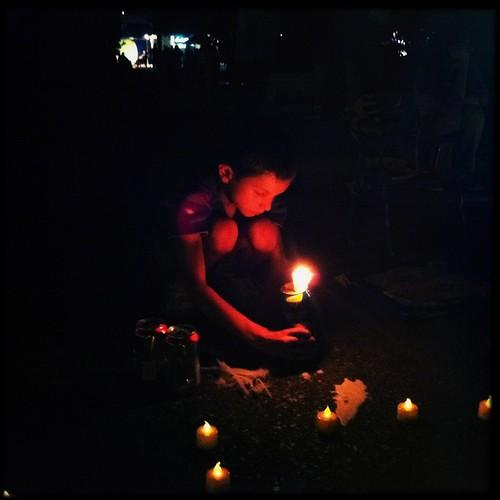 Boy with a candle, Graceland, Memphis, Tenn.