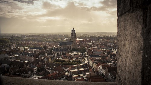 Over Bruges, from the Beffroi - Photo : Gilderic