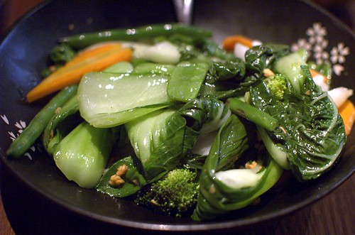 Mixed green vegetables