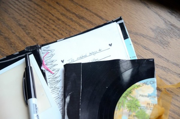 DIY Vinyl Record Notebook
