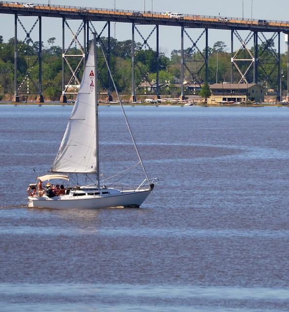 Sailboat on Lake Charles