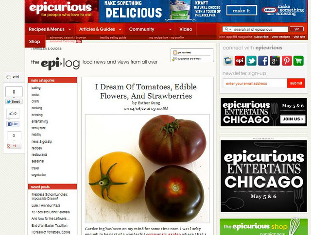 on epicurious