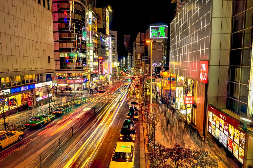 Busy Tokyo Street at night
