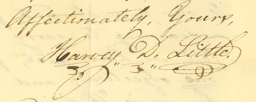 Harvey D. Little's signature, 1827