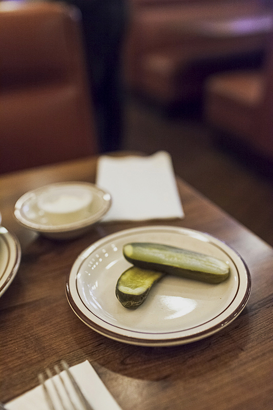 pickles on a plate: photo by Jackie Alpers