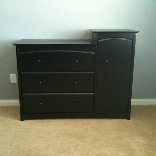 The baby has a dresser now.