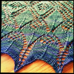 A close up of the little prince shawl