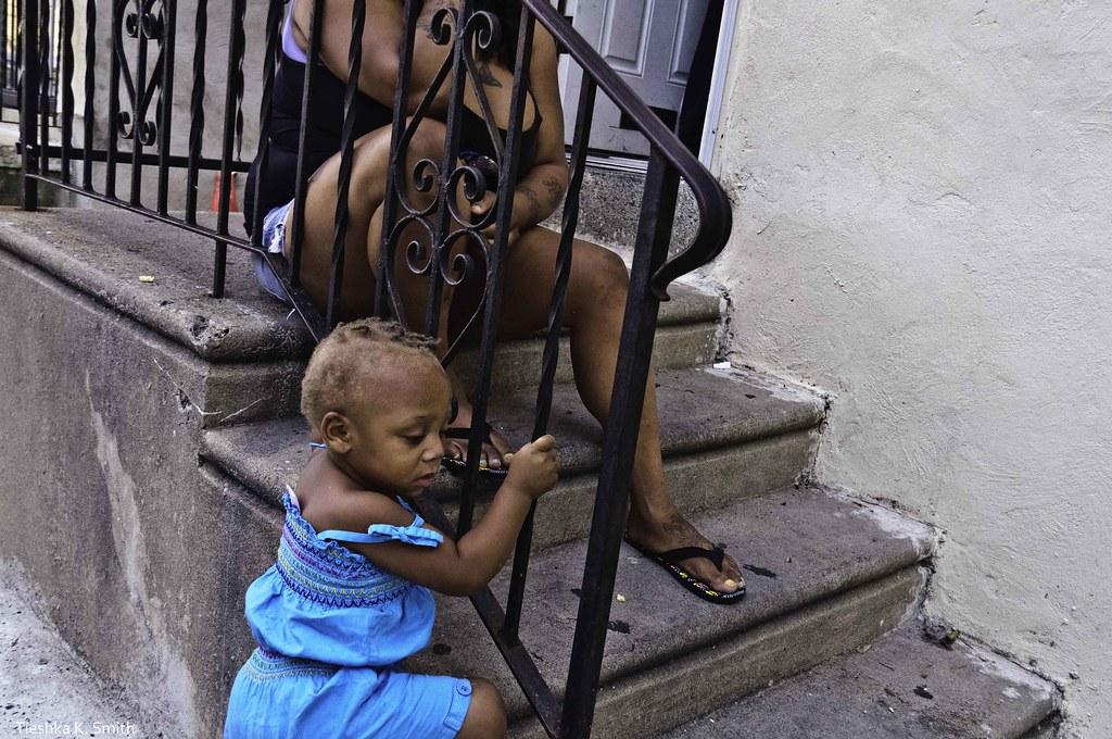 Babygirl in blue.