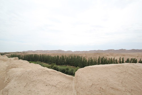 The Jiaohe Ancient City outside of Turpan