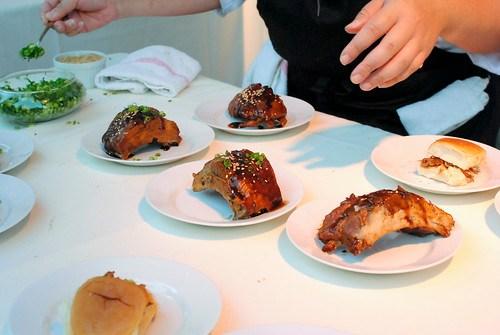 Andrew Zimmern (Bizarre Foods) pork ribs, spareribs sliders