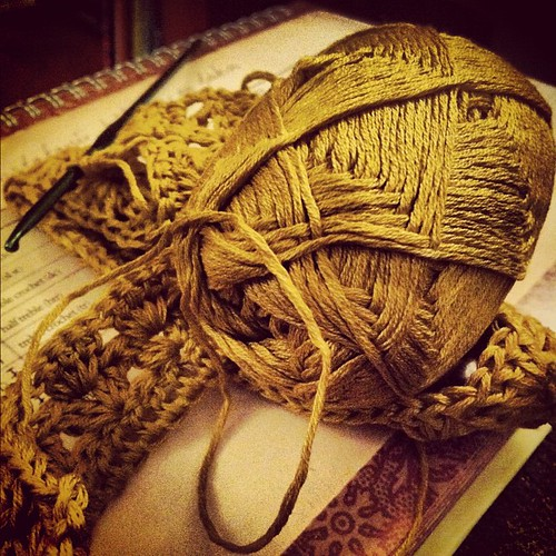 New #crochet project. #collar #cotton #pan
