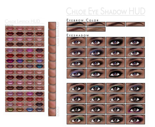 LOGO Additional Make Up HUDS Lips, Cheeks, Eyeshadows