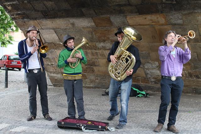 Jazz band under the Karlův most
