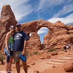 Jenn and Dave at the Turret Arch