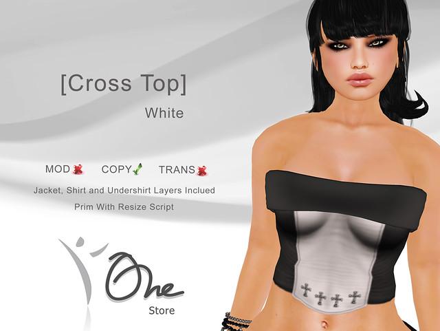 [Cross Top] White