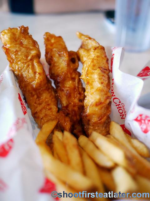 BonChon fish & chips box