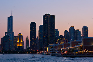 Navy Pier View of Chicago
