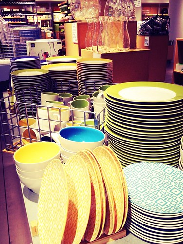 Props shopping at Crate & Barrel