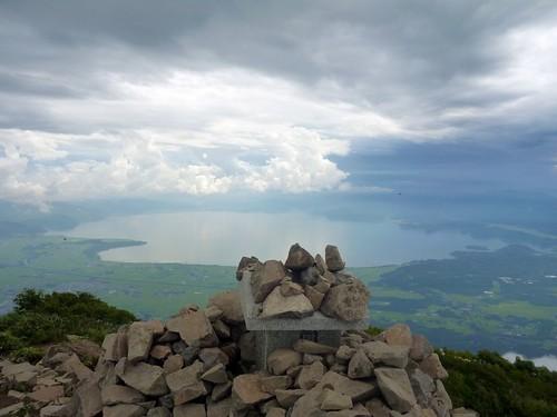 磐梯山頂から猪苗代湖 磐梯山トレッキング Mt.Bandaisan Trekking(Fukushima)