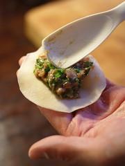 Folding dumplings