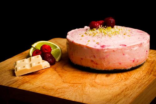 Raspberry & Lime Cheesecake 2