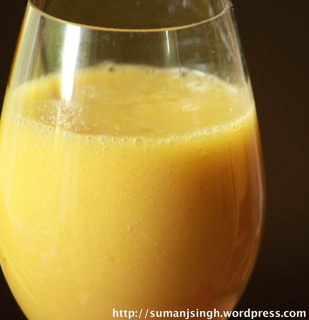 Mango-Pineapple-Banana Smoothie( Orange Smoothie)