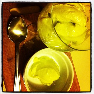 Dessert No.2: Homemade Avocado & Coconut Ice Cream