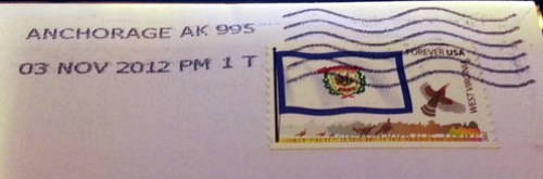 West Virginia Stamped Letter