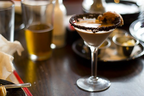 fried oreo chocolate martini