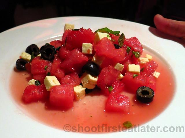 watermelon, feta & olives salad P385