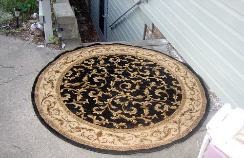 20120719 - yard sale booty - 3 - free rug - IMG_4617