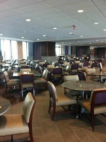 New indoor club at the still under construction Amon G. Carter Stadium