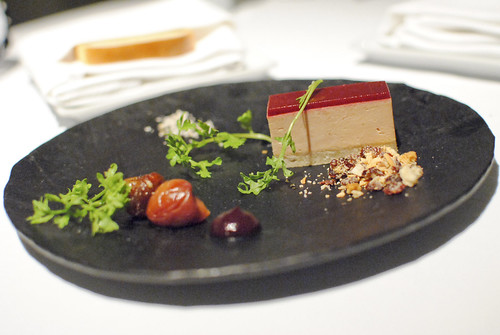 Terrine of Foie Gras Seasonal Flavors and Toasted Whey Bread