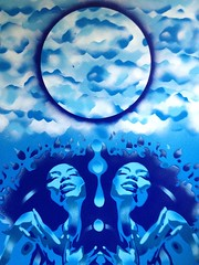 high in the sky,stencils & spraypaints