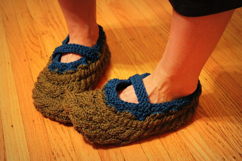 20121106. River slippers.