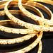 21kt gold bangels