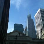 NY Public Library with BofA Building and Grace Building in background