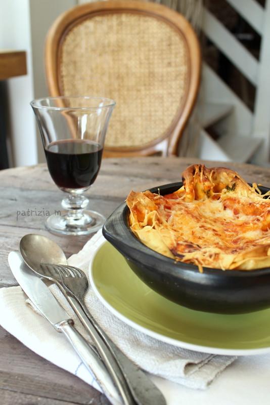 Pasta al forno ricotta e spinaci