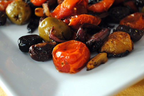 Roasted Olives & Tomatoes